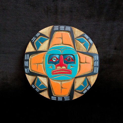Kwakintl Moon By Johnny Joseph Certified By Department Of Indian ( Authentic Canadian Indian Fine Craft)