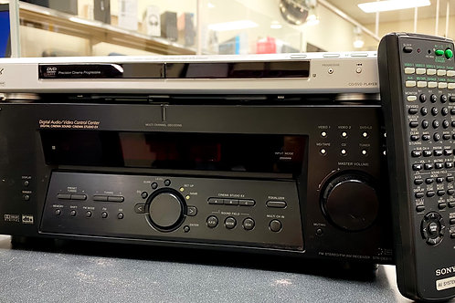 Sony A/V Receiver with Dolby Digital and DTS and Sony DVD/CD Player