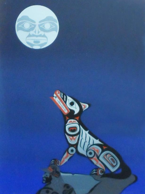 Midnight Wolf by Clarence Mills 94 - 85*67 cm - Framed