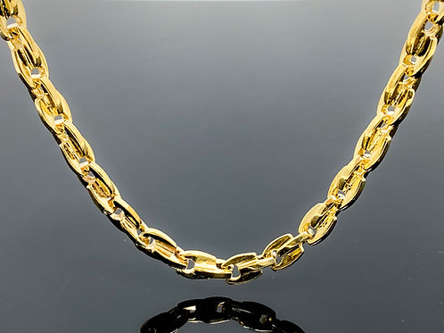 """Double Anchor Link Necklace (26""""/98.7gr/10kt)"""