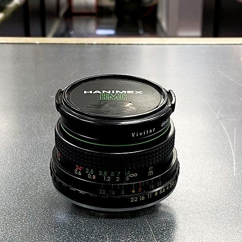 Hanimex 28 mm f/ 2.8 MC Automatic Lens for Pentax