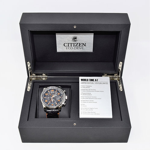 Citizen World Time A-T Limited Edition Stainless Steel Eco-Drive Men's Watch