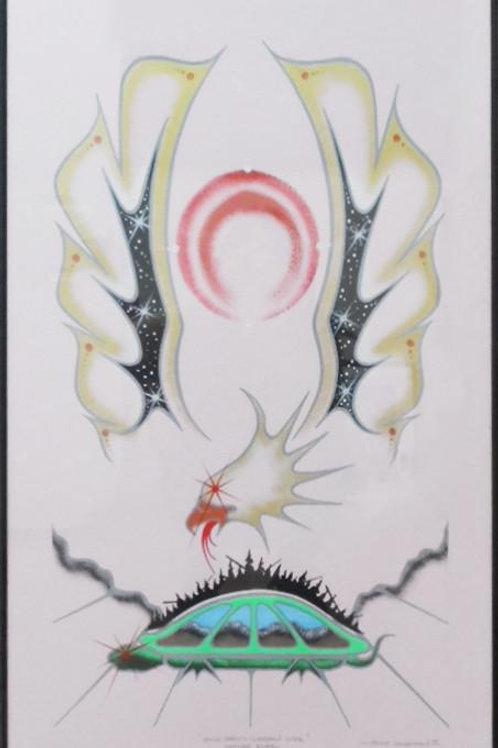 Eagle Spirit Gardian Over Mother Earth by Wally Johnston 95' - 82*51.5 cm - Fram