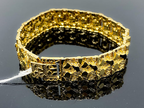 Gold Nugget Link Bracelet