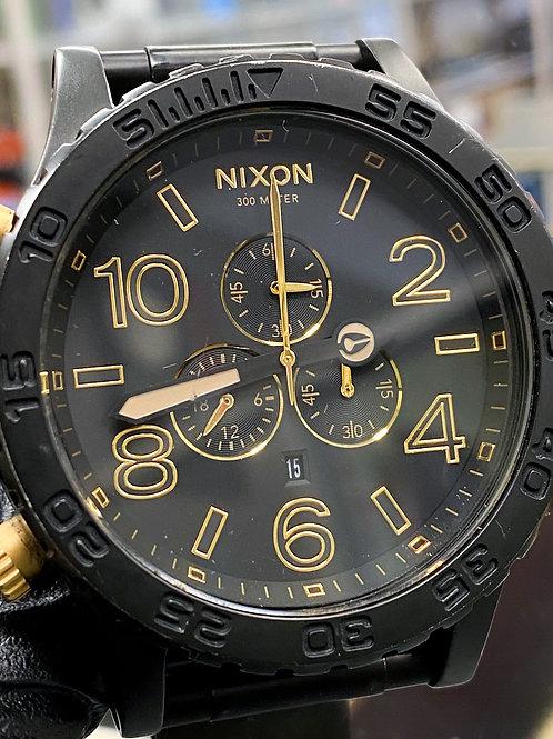 Nixon 51-30 Chrono Watch - Matte Black / Gold