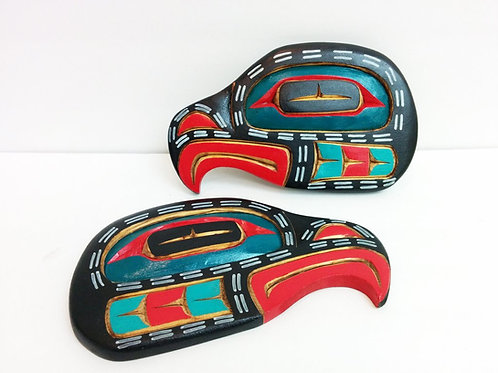 Pair Of Eagle Head By Unknown Artist