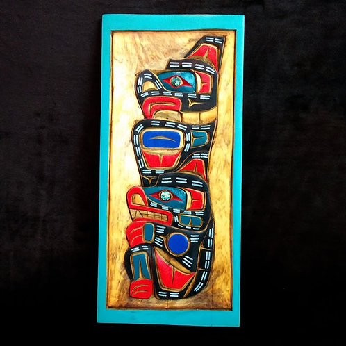 Thunderbird & Grizzly Bear By Gordon Twance-Surrey Bc-