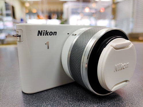 Nikon 1 J1 10.1 MP HD Digital Camera with 10-30mm VR 1 Nikkor Lens (White)