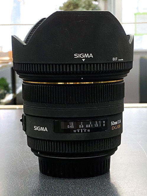 Sigma 50mm f/1.4 EX DG HSM Lens for Canon