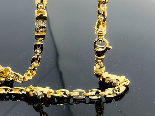 Medusa Station Fancy Style Link Necklace