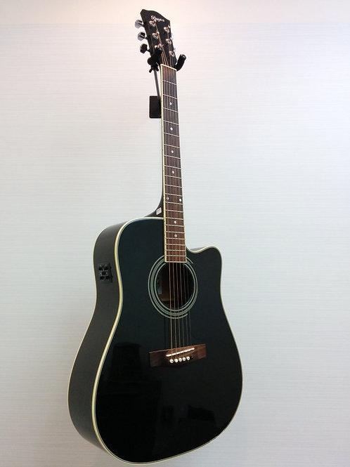 Bayou Canada BA20SCE-BK Acoustic E Guitar + Soft Case (EXC.+)