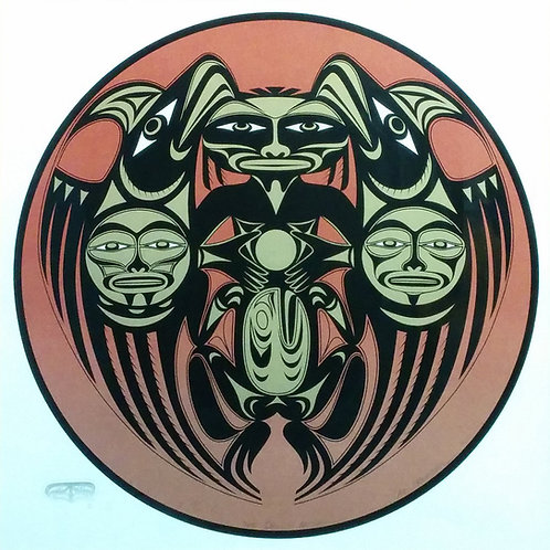 The Samish Mother by M Salish - 63*61.5 cm - Framed
