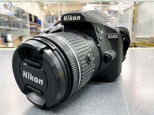 Nikon D3400 24.2MP Camera with AF-P NIKKOR DX 18-55mm f/3.5-5.6G VR Lens