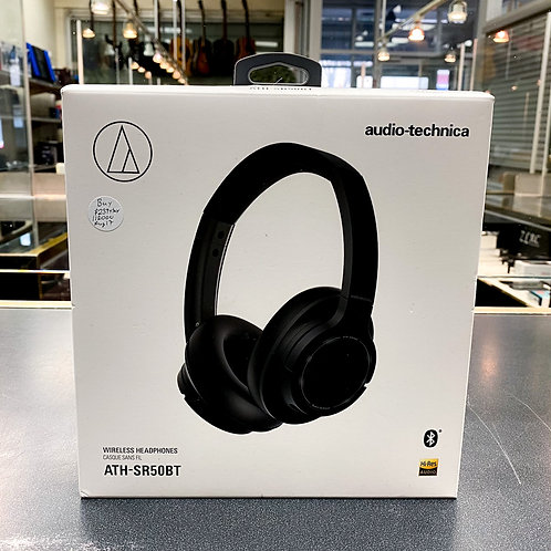 Audio Technica ATH-SR50BT Over-Ear Sound Isolating Bluetooth Headphones - Black