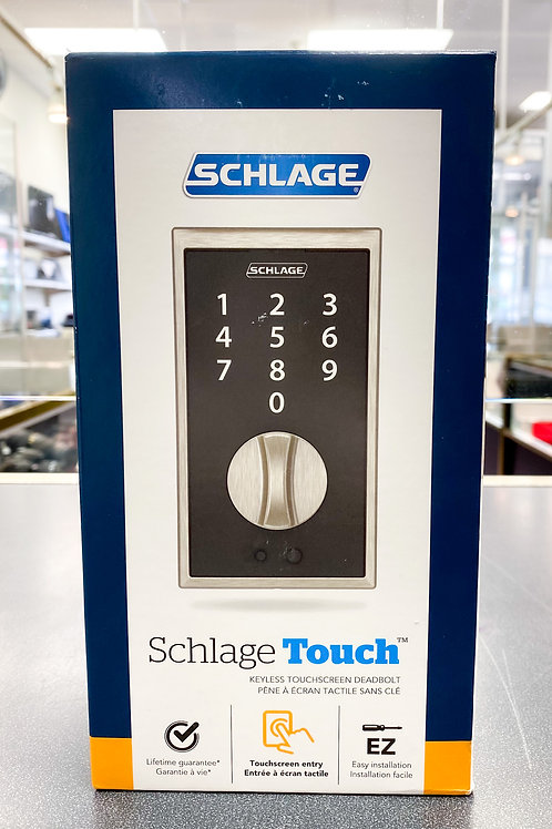 Schlage Touch Century Deadbolt (Satin Nickel) BE375