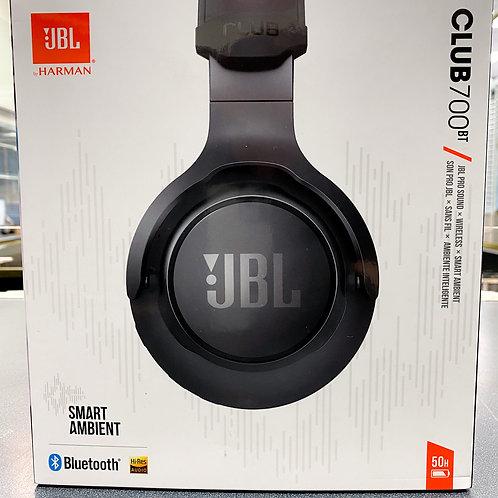 JBL Club 700BT On-Ear Noise Cancelling Bluetooth Headphones - Black