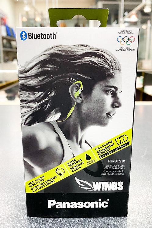 PANASONIC Wings Bluetooth Sport Earphones Yellow - RP-BTS10-Y