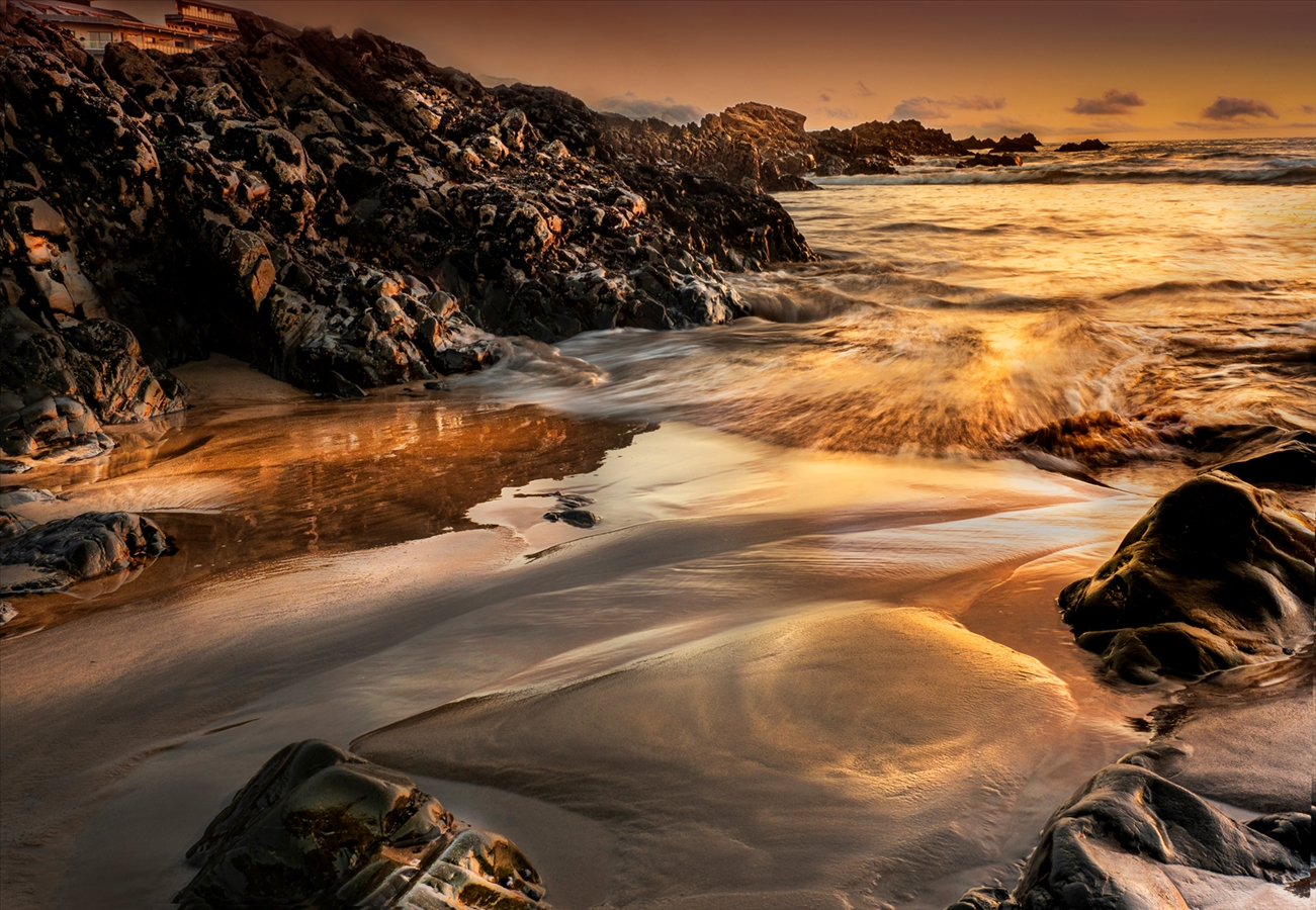 Commended: Incoming Tide at Sunset - Diana Betham
