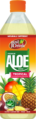 JUST DRINK ALOE TROPICAL 500ml (12 Pack)