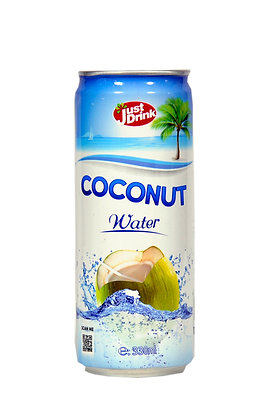 JUST DRINK 100% PURE COCONUT WATER 330ml (12 Pack)