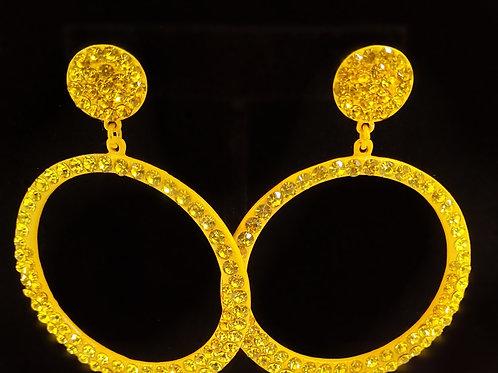 Yellow Diamond Hoops