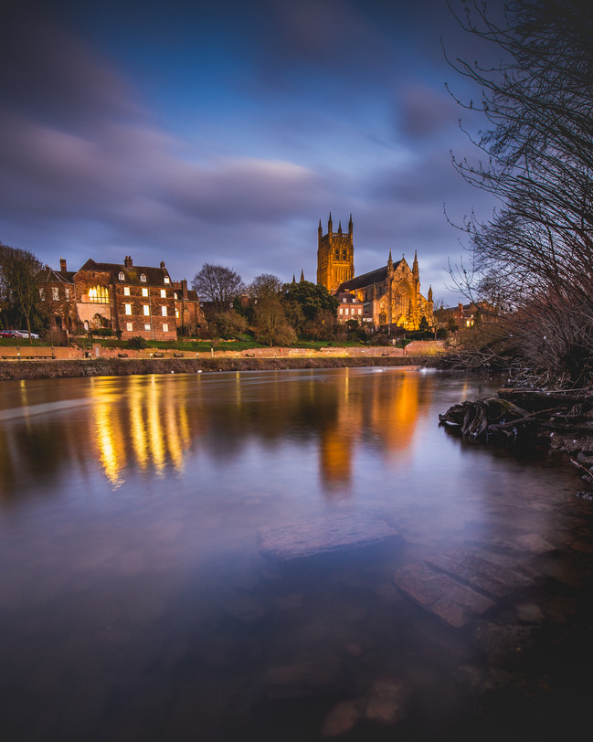 Worcester Cathedral From The Swan Sanctuary