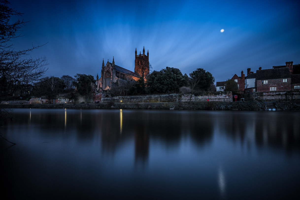 Worcester Cathedral In The Blue Hour