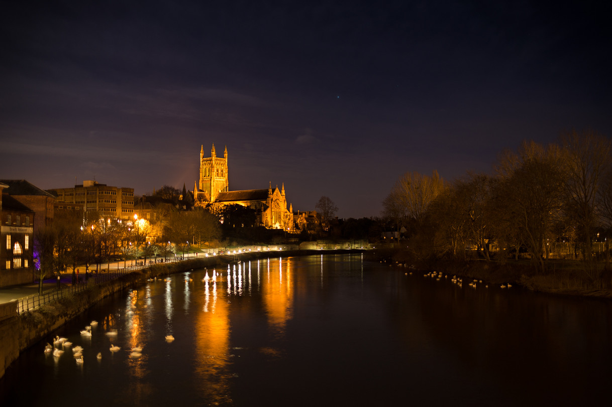 The Cathedral Alongside The River Severn
