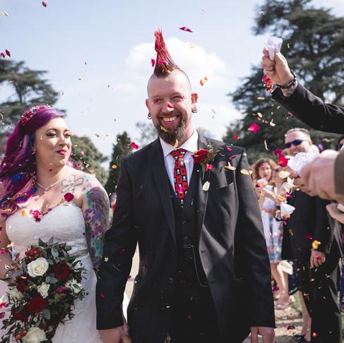 KEV + JESS /// A PUNK ROCK WEDDING AT DUMBLETON HALL