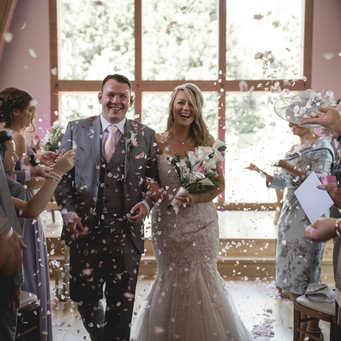 LIAM + MIKAELA /// A RUSTIC AND COLOURFUL WEDDING AT THE MILL BARNS, ALVELEY