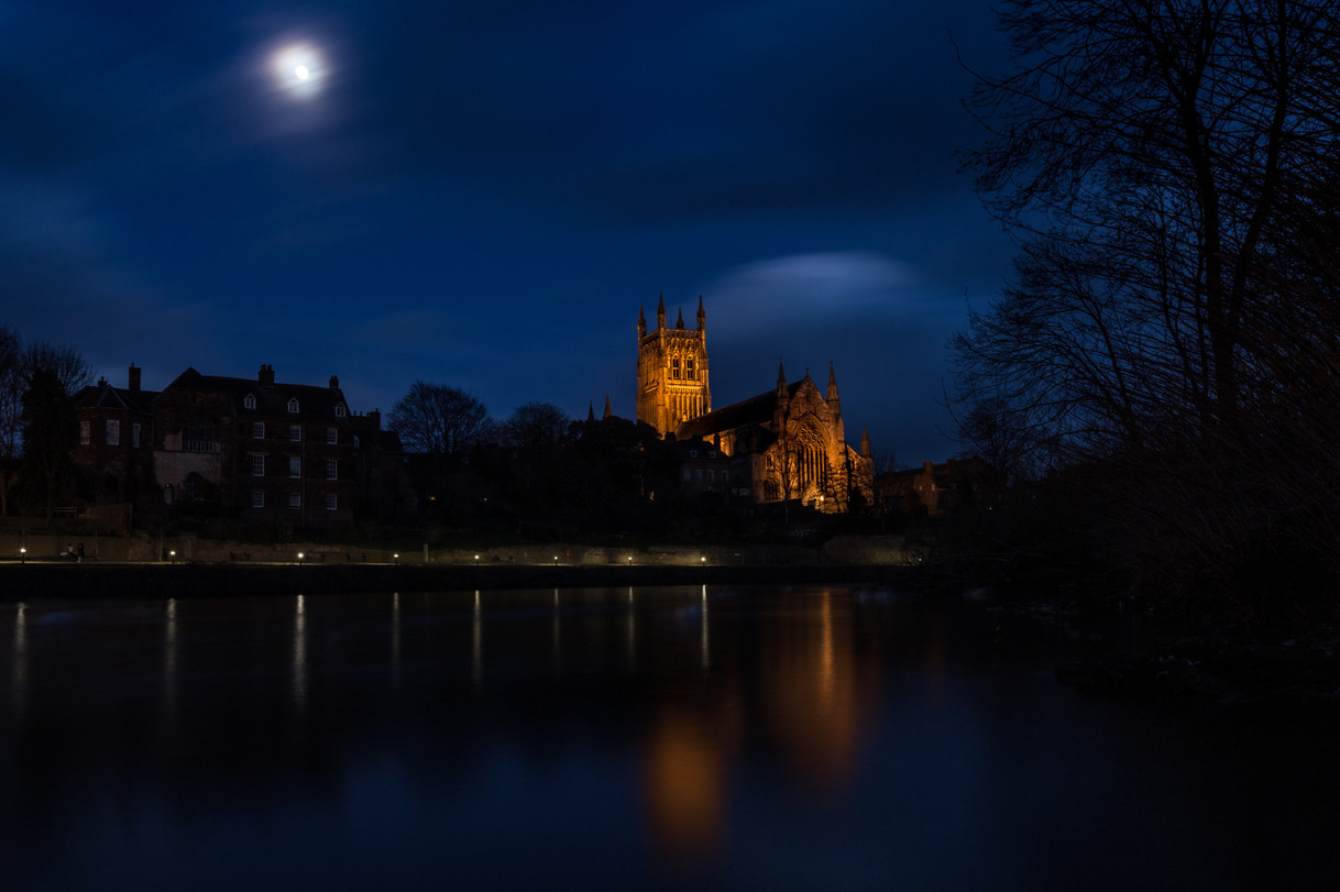 The Cathedral Under A Full Moon