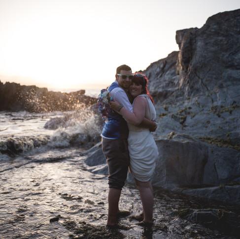 SEAN + CHELSEA /// CORNWALL BEACH WEDDING AT POLHAWN FORT