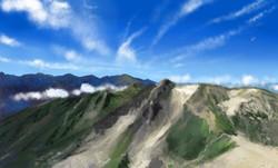 背景画 山