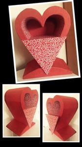 Coeur rouge avec un tiroir