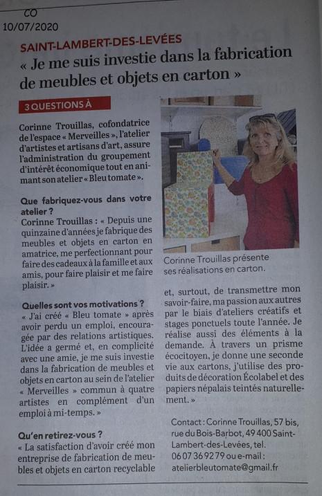 L'Atelier Bleu Tomate - Corinne Trouillas