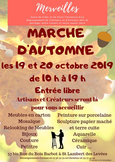Marché Artisanal d'Automne le 19 et 20 Octobre 2019