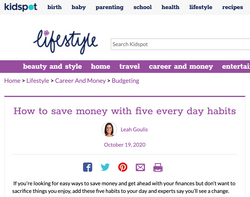 How to save money with 5 habits_ Dr Gina