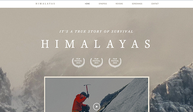 Video website templates – Filmsida