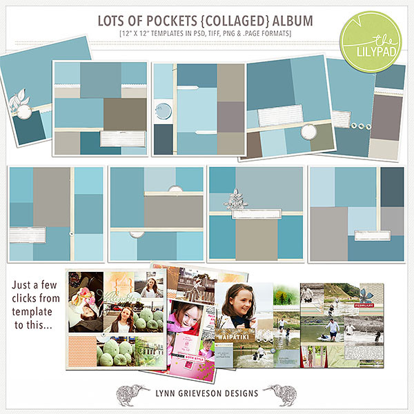 Lots of Pockets Collaged album