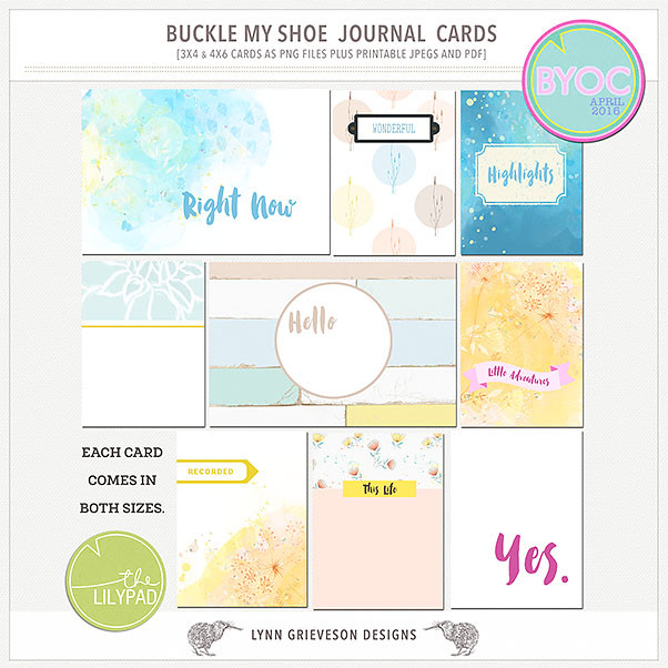 Buckle My Shoe pocket scrapping journal cards