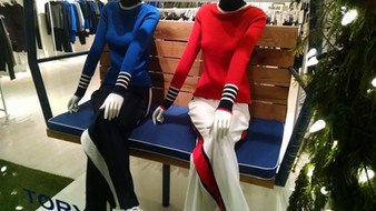 Bench cushion for Tory Sport 2015 holiday shop.