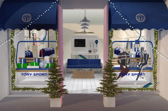 Rendering of Tory Sport 2015 holiday shop by Kate McCollough.