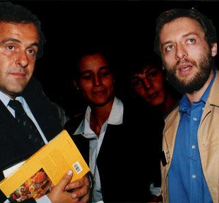 Avec Michel Platini 1998