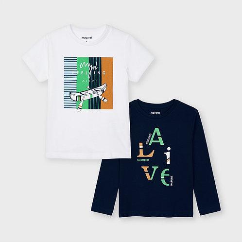 Set 2 camisetas manga larga y corta
