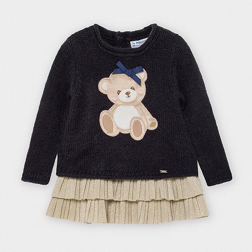 Vestido tricot oso