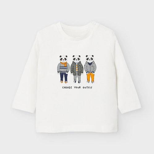 Camiseta manga larga pandas