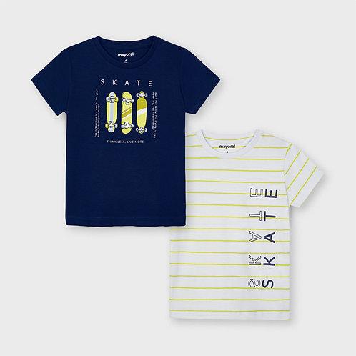 Set 2 camisetas manga corta