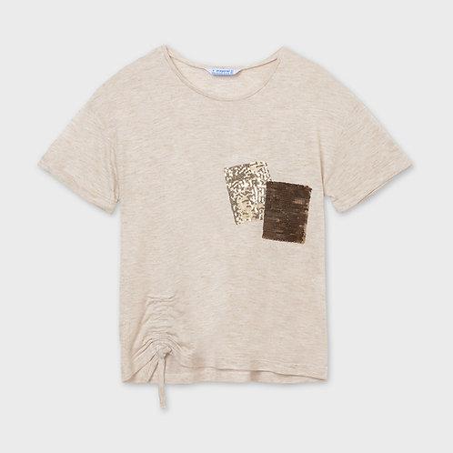 Camisetas bolsillos lentejuelas