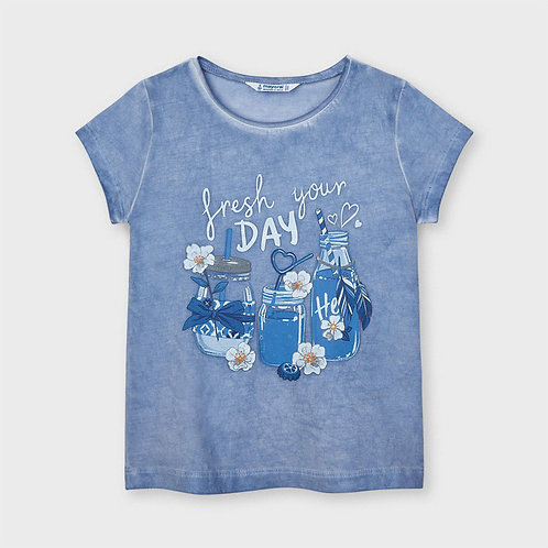 Camiseta manga corta lavada