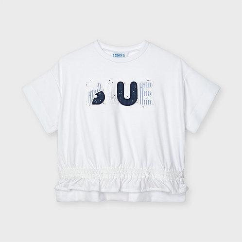 Camiseta manga corta apliques